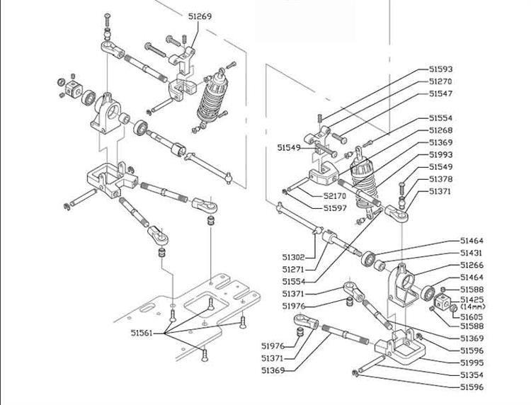 Rear Transmission Shaft 2 Pc