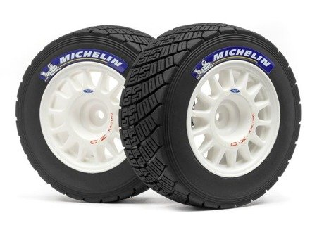 WR8 RALLY OFF-ROAD WHEEL/TIRE SET (WHITE/2PCS)