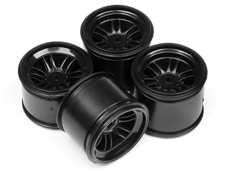 Ft01 Wheel Set (Black/Front 2Pcs/Rear 2Pcs)