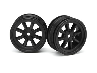 MX60 8 SPOKE WHEEL BLACK (0mm OFFSET/2pcs)