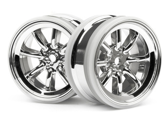 MX60 8 SPOKE WHEEL CHROME (3mm OFFSET/2pcs)